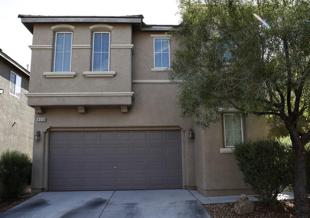 Una casa en venta en 8558 Rumsfield Court fotografiada el lunes 27 de agosto de 2018 en Las Vegas. (Eli Segall / Las Vegas Review-Journal)