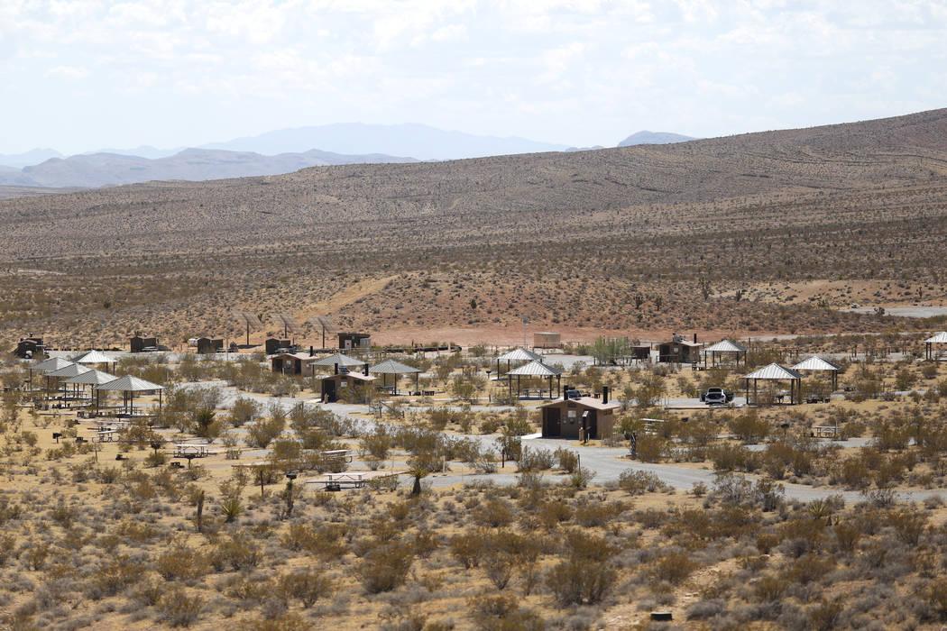 Una caravana llega el día de la inauguración del Red Rock Canyon Campground en Las Vegas el viernes, 2 de septiembre de 2016. El campamento, muy popular entre los escaladores de roca, abrirá el ...