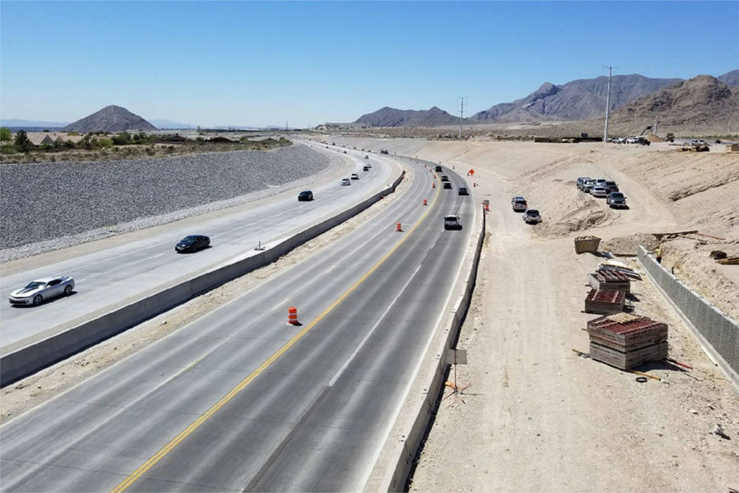 El 215 Beltway en el noroeste de Las Vegas. (Condado de Clark)