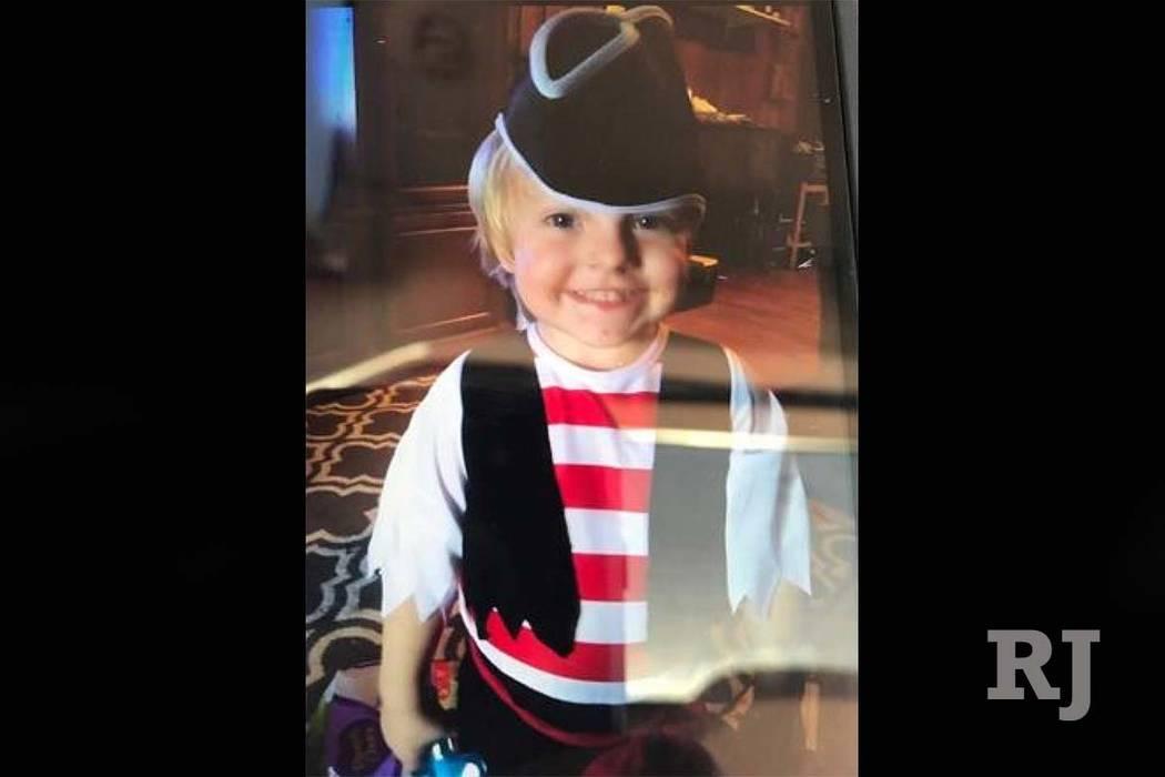 La policía de Las Vegas encontró el cuerpo de Daniel Theriot, de 3 años de edad, el lunes 3 de septiembre de 2018, en un área remota cerca del Área Recreativa Nacional Lake Mead. (Departament ...