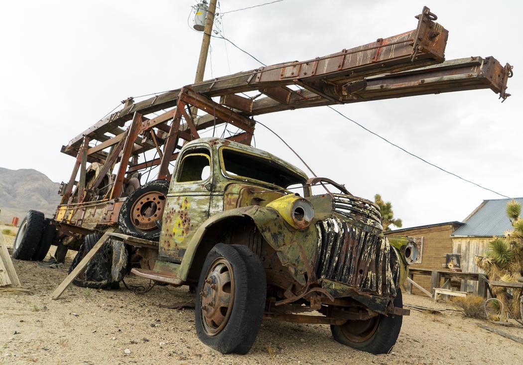 Un camión abandonado fotografiado en Gold Point, martes, 4 de septiembre de 2018. Después de una disputa de propiedades de décadas, la Oficina de Administración de Tierras ha anunciado planes ...