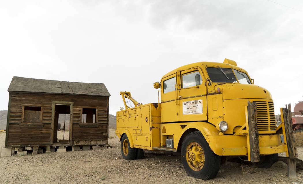 Una choza abandonada y un camión fotografiados en Gold Point, martes, 4 de septiembre de 2018. Después de una disputa de propiedades de décadas, la Oficina de Administración de Tierras ha anun ...