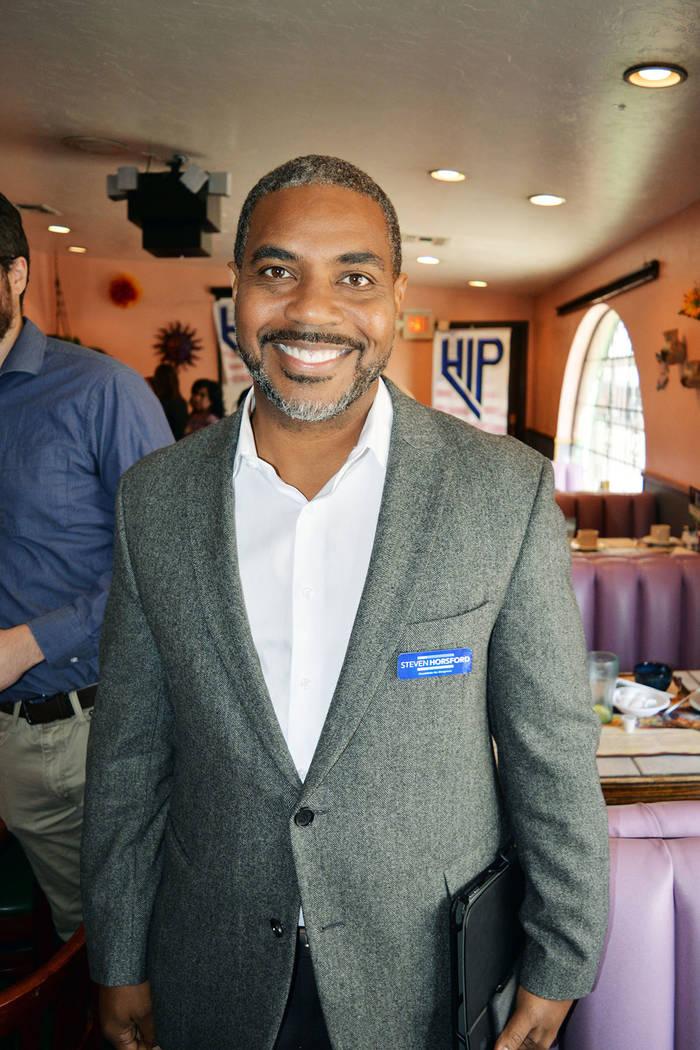 Steven Horsford. candidato del Partido Demócrata para Congresista por el Distrito 4. Miércoles 5 de septiembre de 2018, en el restaurante Tamales Doña María. Foto Frank Alejandre / El Tiempo.