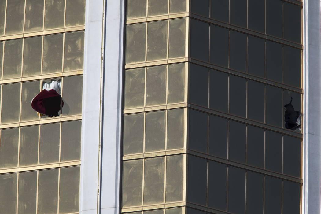 Una escena del 2 de octubre de 2017, el día después del tiroteo del festival Route 91 Harvest en Las Vegas. Richard Brian