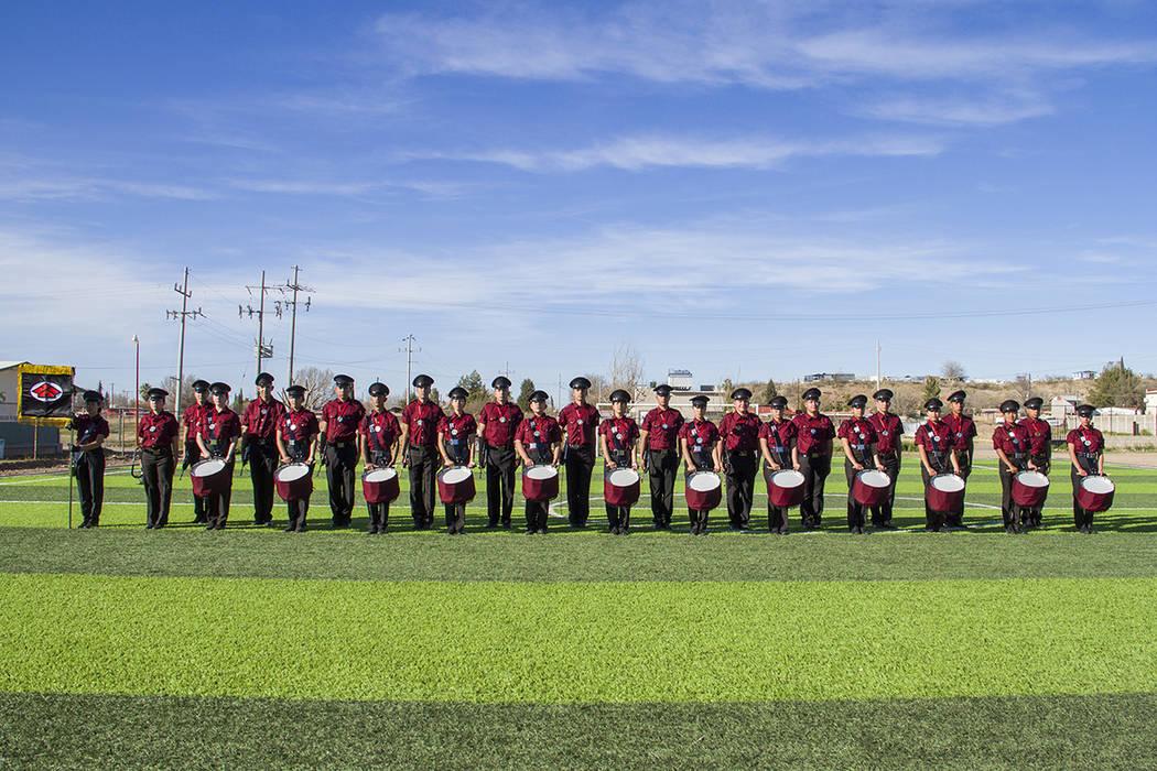 Banda de Guerra de la Preparatoria Enrique Esqueda 'Halcones', de Sonora, México. Foto Cortesía.