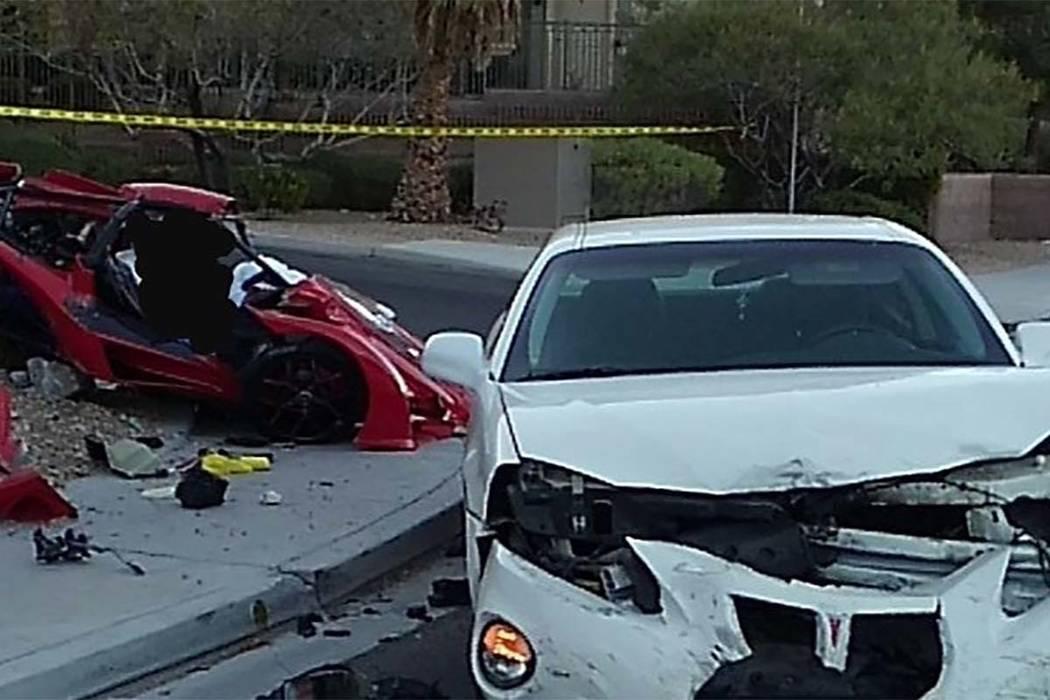 Un conductor de 31 años de un vehículo de tres ruedas fue asesinado el domingo en un accidente en Grand Canyon Drive al norte de la avenida Gilcrease. (LVMPD)