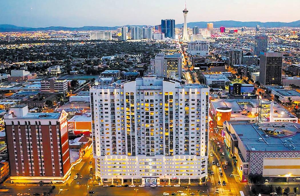 Esta foto de archivo sin fecha muestra The Ogden en el centro de Las Vegas. Las Vegas Review-Journal, archivo