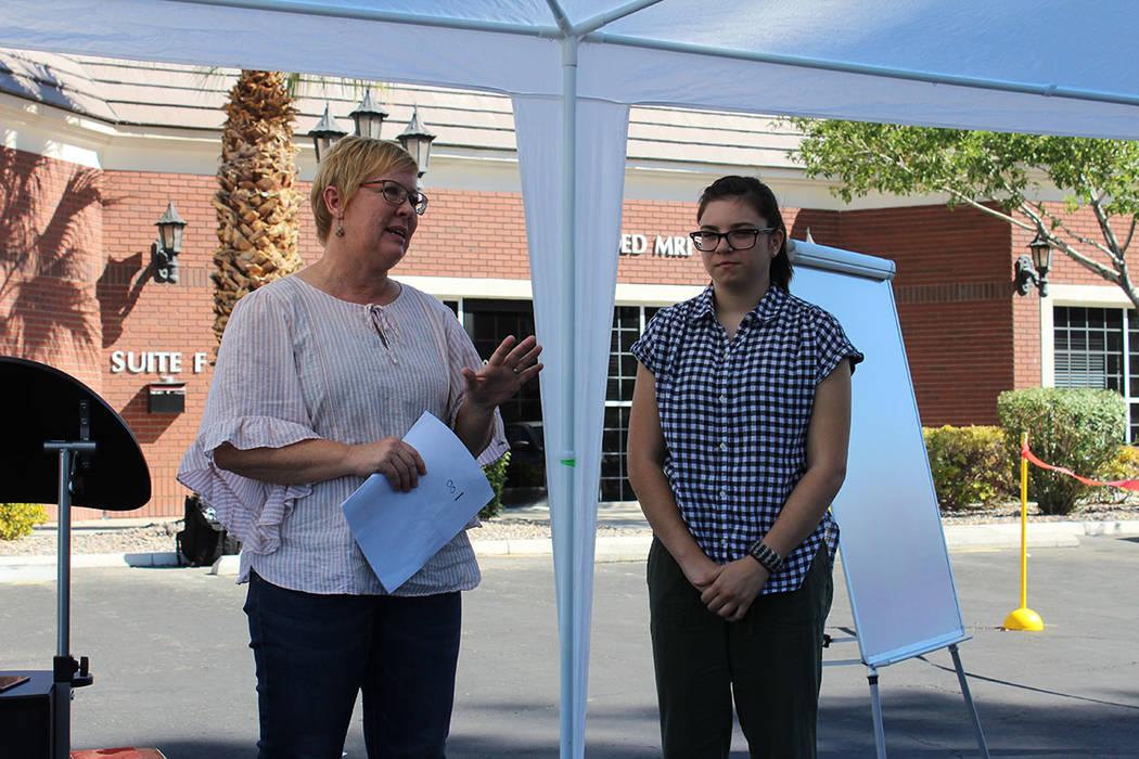 Lisa Williams y su hija Emilia hablaron de cómo han tratado la condición de EAF de la menor y como ha sido su aprendizaje. Sábado 8 de septiembre de 2018, en el Centro Ackerman. Foto Cristian D ...