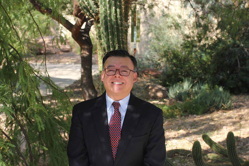 Carlos Florez, representante de Cristo Rey St. Viator LV, College Preparatory. Foto Cortesía.