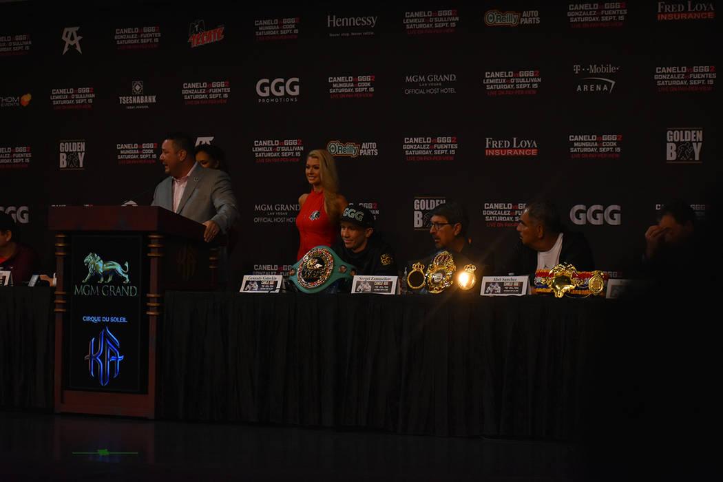 Última conferencia de prensa: Saúl 'Canelo' Álvarez vs Gennadyy 'GGG' Golovkin 2. Miércoles 12 de septiembre de 2018 en casino MGM. Foto Anthony Avellaneda / El Tiempo.