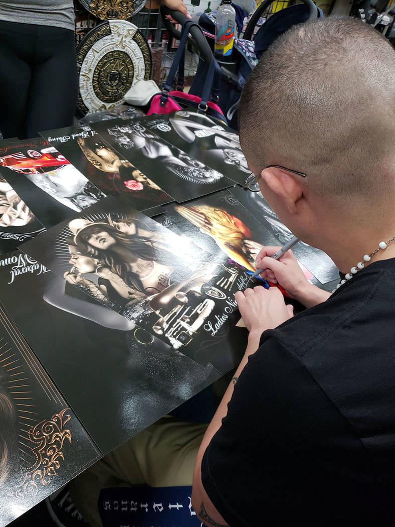 Alfredo Bilducia empieza a ser reconocido como uno de los mejores artistas del género. Sábado 8 de septiembre de 2018 en Las Vegas. Foto Frank Alejandre / El Tiempo.