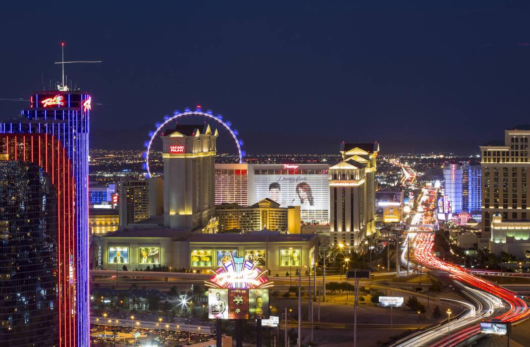 Hoteles en el Strip de Las Vegas el sábado 30 de junio de 2018. Richard Brian Las Vegas Review-Journal @vegasphotograph