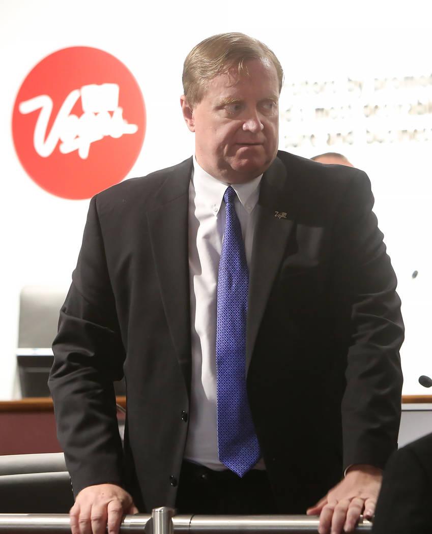 Luke Puschnig, asesor legal de la Autoridad de Convenciones y Visitantes de Las Vegas, sugirió que la agencia pague los impuestos sobre la indemnización de Rossi Ralenkotter. (Bizuayehu Tesfaye ...