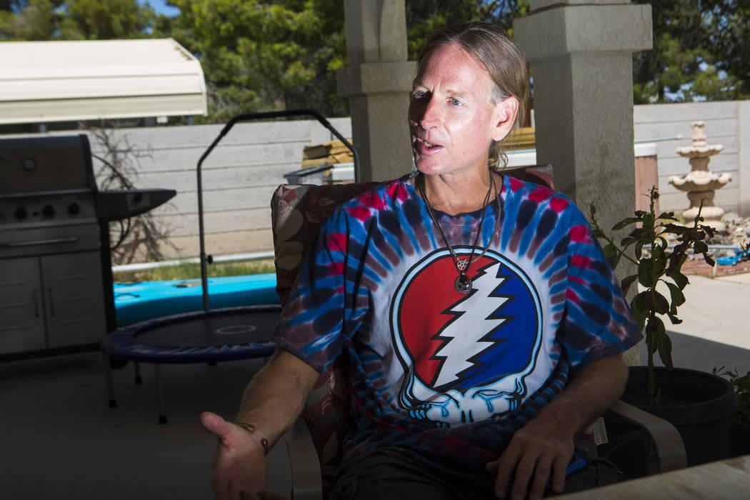 Timothy Tyler en la casa de su hermana en Las Vegas el 24 de agosto de 2018. Chase Stevens Las Vegas Review-Journal @csstevensphoto