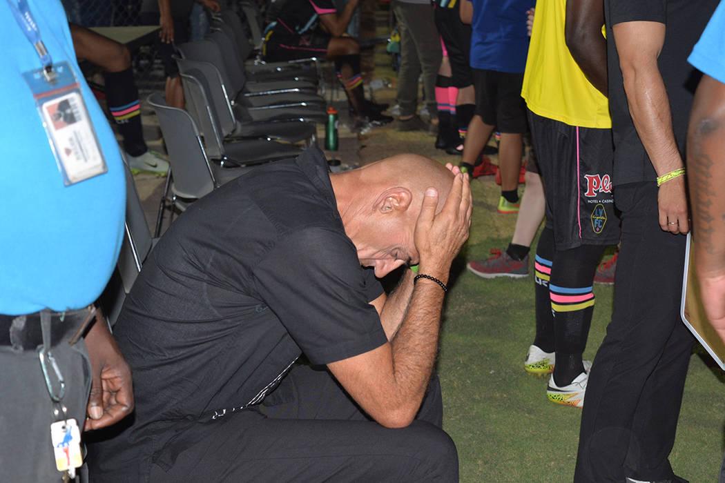 José Luis Sánchez Solá manifestó su deseo de abandonar el timón de Las Vegas Lights. Domingo 16 de septiembre de 2018, en el Cashman Field. Foto Frank Alejandre / El Tiempo.