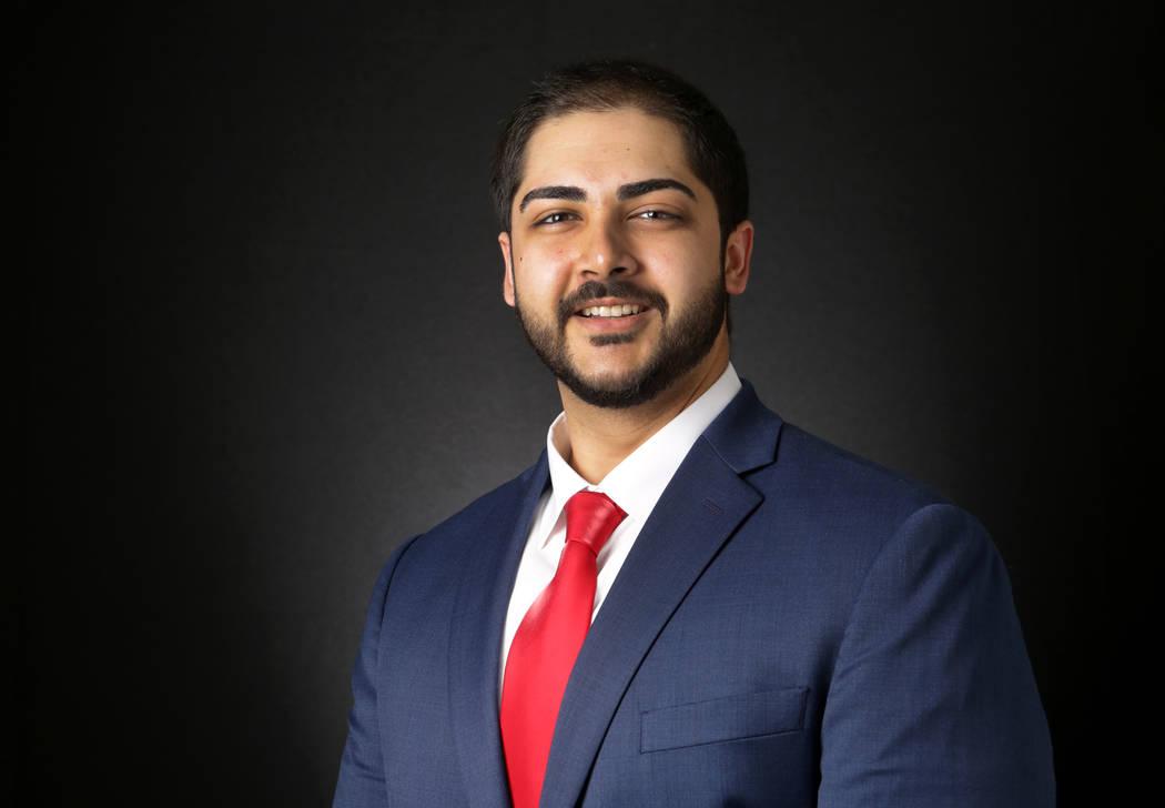 Jason Burke, candidato republicano para el Distrito 5 de la Asamblea Estatal de Nevada, es fotografiado en las oficinas del Las Vegas Review-Journal el lunes 13 de agosto de 2018. Michael Quine / ...