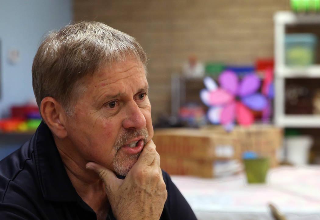 John Haynal, el receptor estatal de Discovery Charter School, habla durante una entrevista con el Las Vegas Review-Journal el viernes, 14 de septiembre de 2018, en Las Vegas. (Bizuayehu Tesfaye / ...