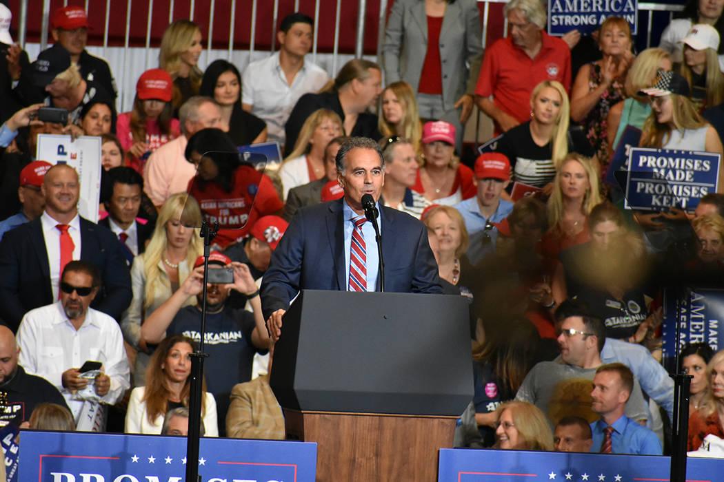 El candidato a a congresista de Nevada, Danny Tarkanian, durante un evento de campaña. Jueves 20 de septiembre de 2018 en el Centro de Convenciones de Las Vegas. Foto Anthony Avellaneda / El Tiempo.