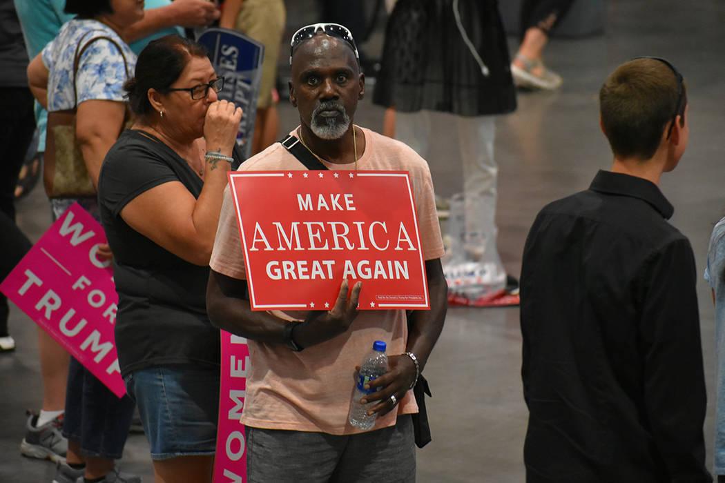 Simpatizantes del presidente Trump acudieron a apoyarlo en un evento de campaña. Jueves 20 de septiembre de 2018 en el Centro de Convenciones de Las Vegas. Foto Anthony Avellaneda / El Tiempo.