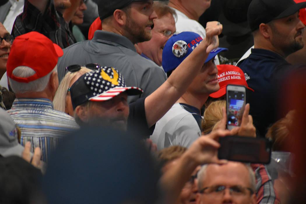 Ante los ataques del presidente Trump a los medios de comunicación, algunos de sus seguidores tuvieron reacciones inapropiadas. Jueves 20 de septiembre de 2018 en el Centro de Convenciones de Las ...