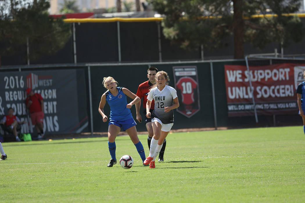 UNLV perdió por marcador de 3-0 ante Boise Satate, en partido realizado el domingo 23 de septiembre en el campo Peter Johann de Las Vegas. Foto Cortesía UNLV.