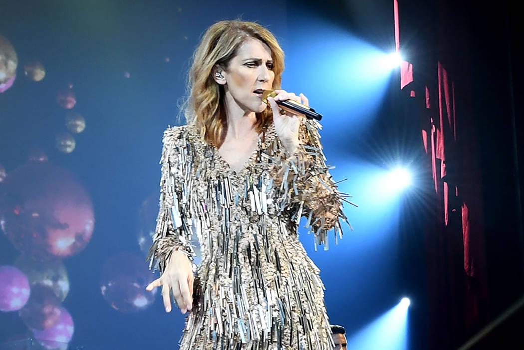 Celine Dion durante su espectáculo en el Colosseum en el Caesars Palace el martes, 19 de septiembre de 2017. (Denise Truscello)