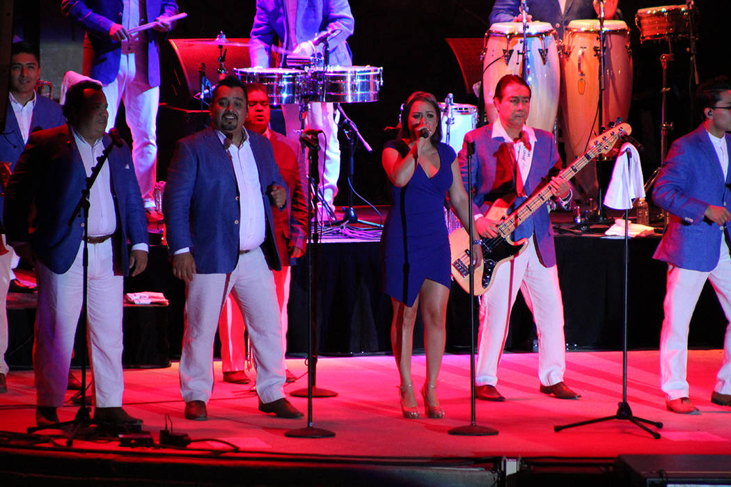 La agrupación de fundó en 1983 por los 6 hermanos Mejía, que siguen hasta hoy. Viernes 21 de septiembre de 2018, en la Playa del Mandalay Bay. Foto Cristian De la Rosa / El Tiempo - Contribuidor.