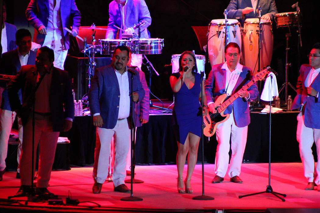 Los Ángeles Azules han tocado en los festivales Vive Latino y Coachella. Viernes 21 de septiembre de 2018, en la Playa del Mandalay Bay. Foto Cristian De la Rosa / El Tiempo - Contribuidor.