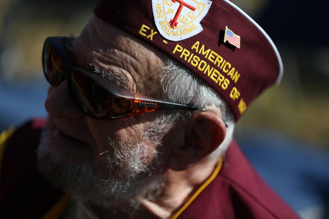 Prisionero militar de guerra, Vincent Shank, asiste a una ceremonia del Día de reconocimiento de prisioneros de guerra/MIA en el Freedom Park dentro de la Base Aérea Nellis en Las Vegas, el vier ...