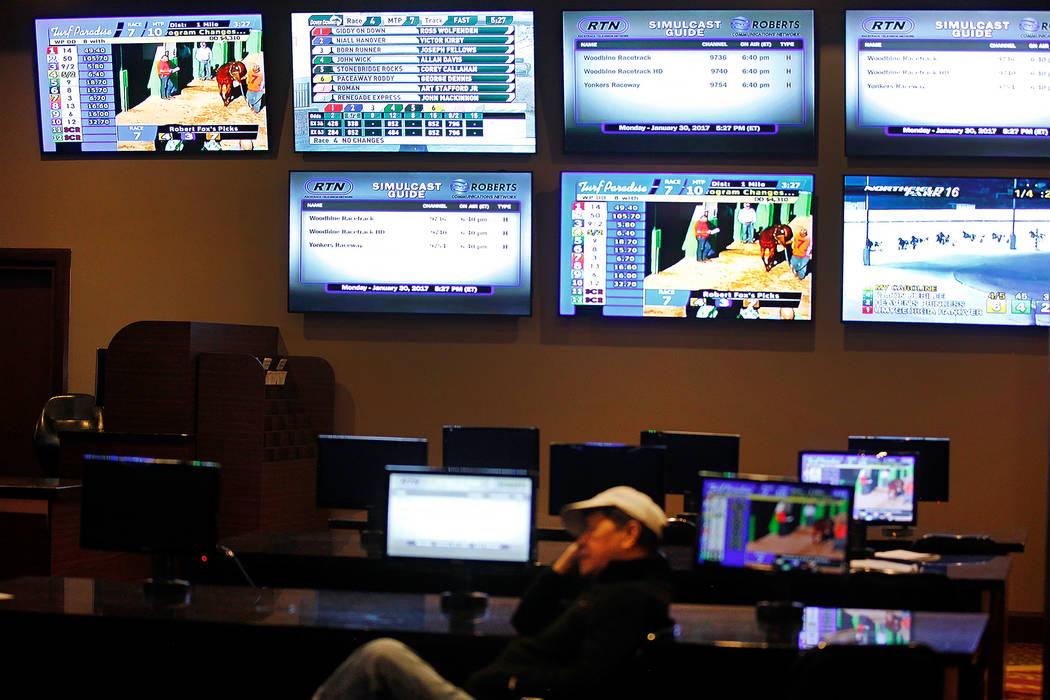 El Stratosphere Race & Sportsbook en el Stratosphere hotel-casino el lunes 30 de enero de 2017 en Las Vegas. (Rachel Aston / Las Vegas Review-Journal) @rookie__rae