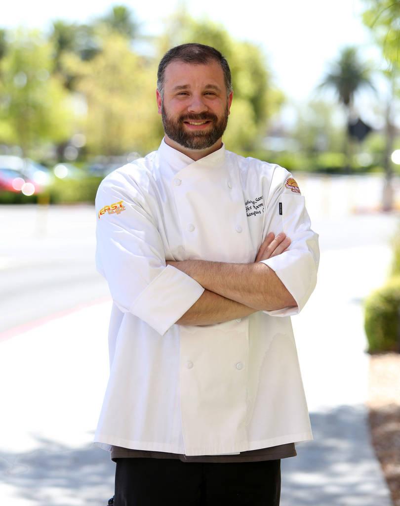 El chef Anthony Santori en Santa Fe Station el viernes 22 de junio de 2018, en Las Vegas. (Bizuayehu Tesfaye / Las Vegas Review-Journal) @bizutesfaye