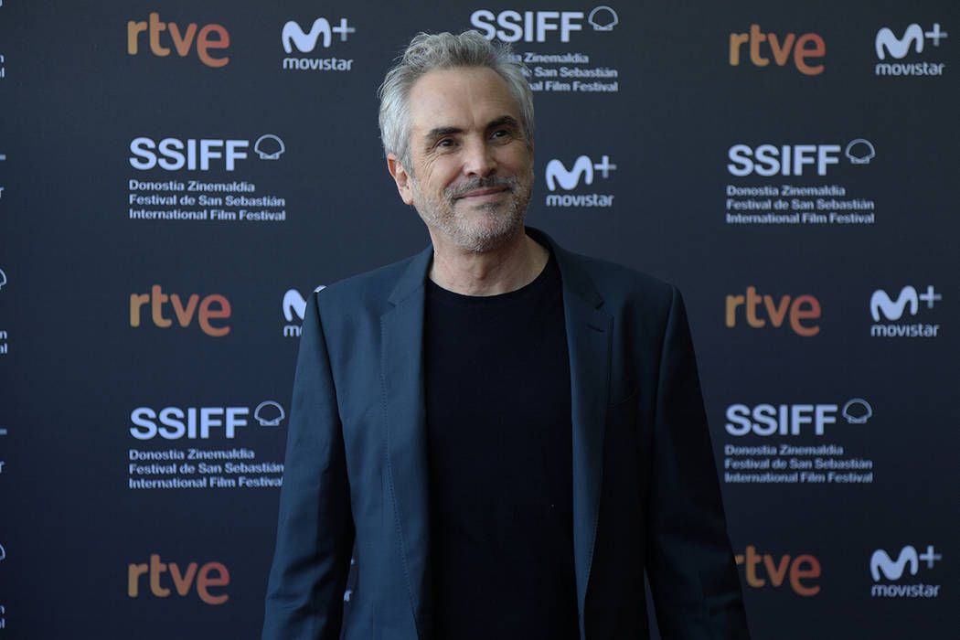 """San Sebastián, 27 Sep 2018 (Notimex-David de Río).- El gran director de cine mexicano Alfonso Cuarón, presentó su película """"Roma"""" en el marco del 66 Festival internacional de cine de San Seba ..."""