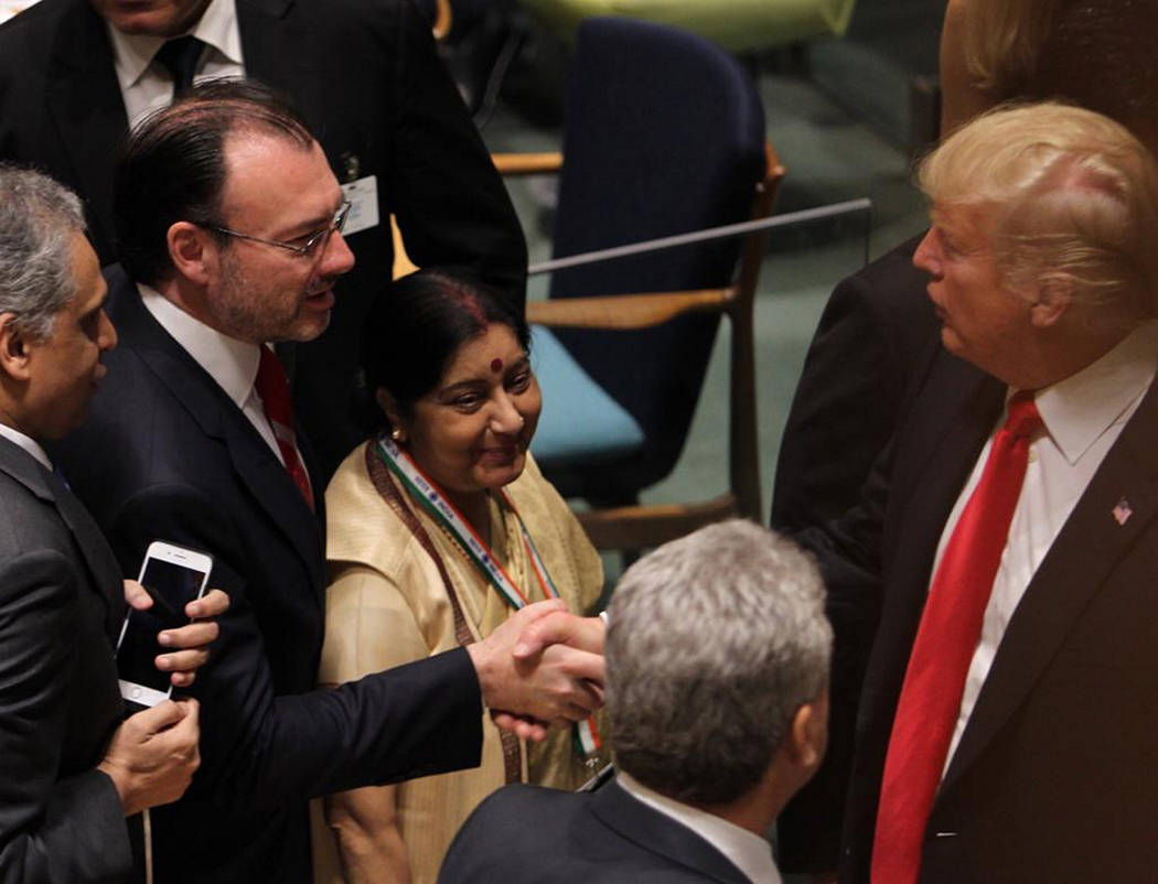 ARCHIVO. México, 24 Sep 2018 (Notimex-Especial).- El canciller Luis Videgaray Caso participó en nombre de México en el evento convocado por el presidente de Estados Unidos, Donald Trump, y el s ...