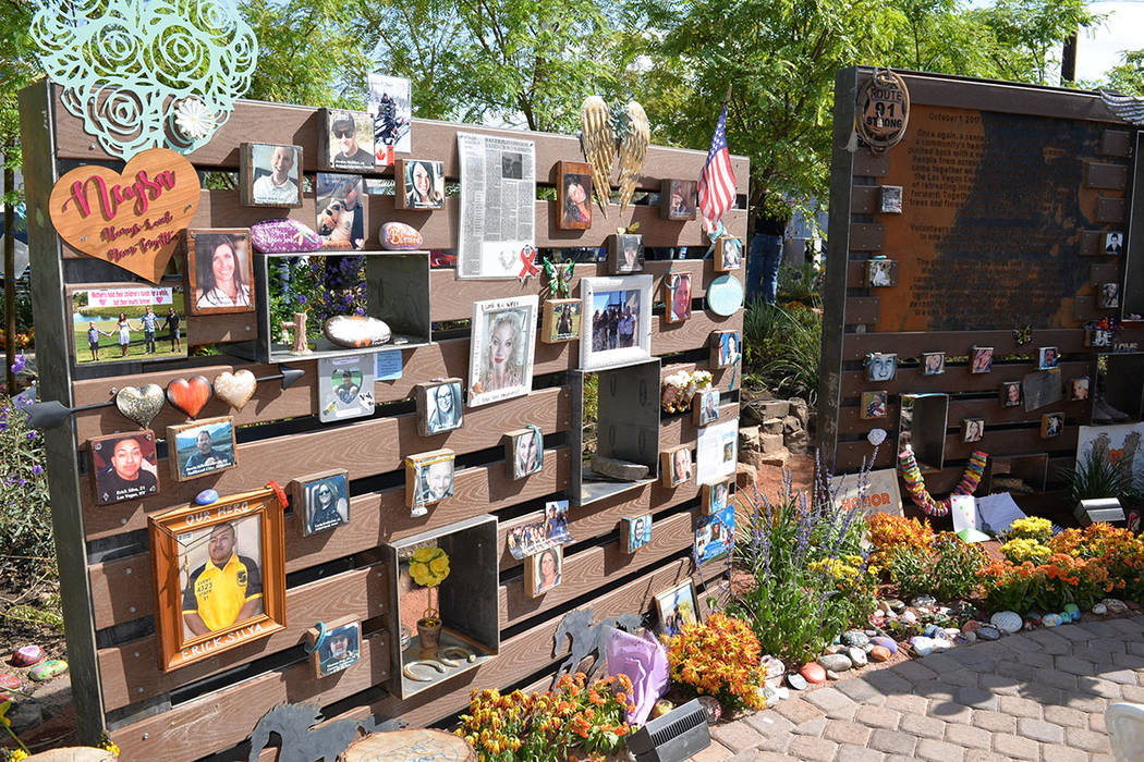 El lunes primero de octubre se llevó a cabo la dedicación formal de un nuevo muro para recordar a las víctimas. Lunes 1 de octubre de 2018, en Las Vegas. Foto Frank Alejandre / El Tiempo.