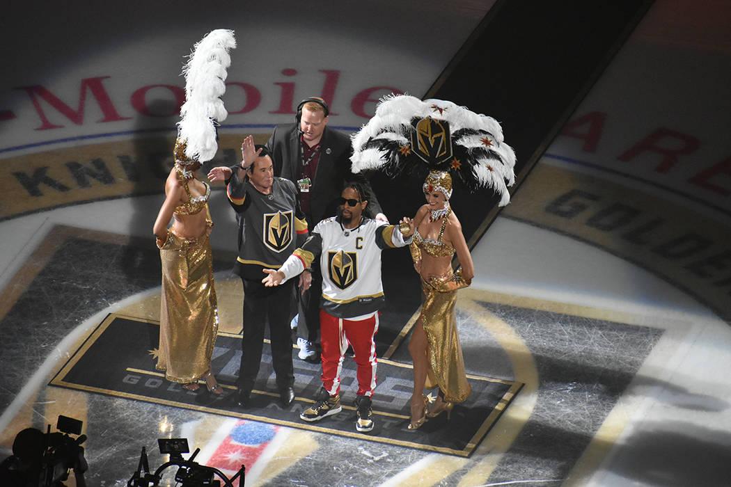 Personalidades de la música encabezaron la ceremonia inaugural de Vegas Golden Knights. Jueves 4 de octubre de 2018 en T-Mobile Arena de Las Vegas. Foto El Tiempo.