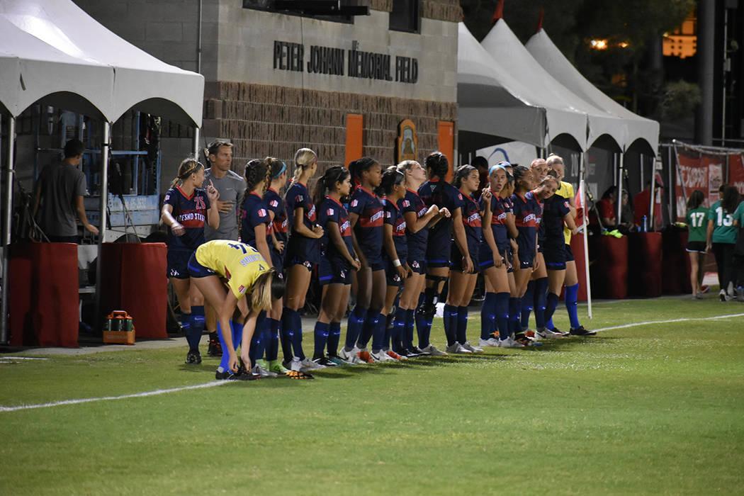 Las jugadoras de Fresno State fueron un rival sumamente complicado para UNLV. Viernes 5 de octubre de 2018 en campo Peter Johan Memorial. Foto Anthony Avellaneda / El Tiempo.