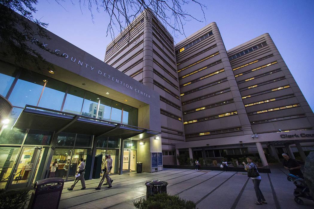 El Centro de Detención del Condado de Clark en el Centro de Las Vegas (Chase Stevens / Las Vegas Review-Journal)