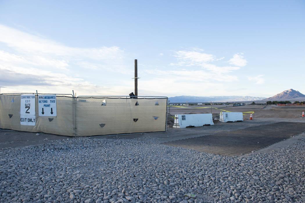 Un espacio que se está desarrollando como centro de datos se ve en Henderson, NV, el lunes 8 de octubre de 2018. (Caroline Brehman / Las Vegas Review-Journal) @carolinebrehman