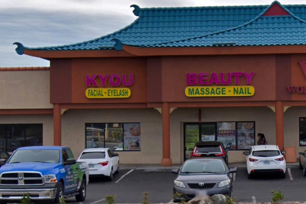 El salón de belleza Kyou en 4009 Spring Mountain Road en Las Vegas se ve en una captura de pantalla. (Google)