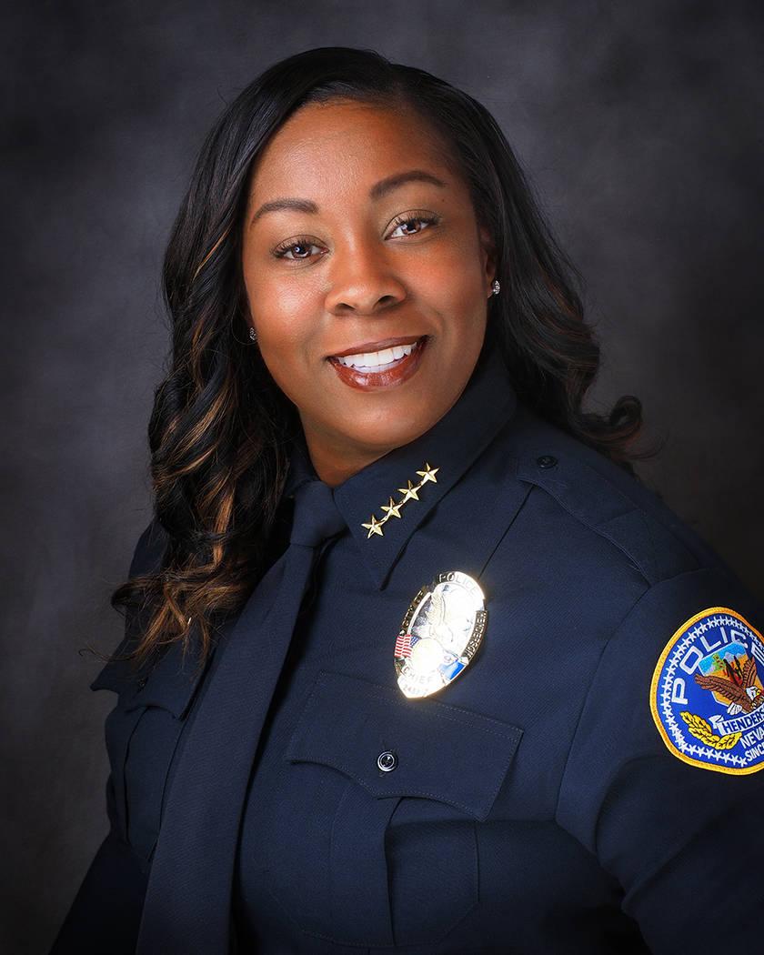 LaTesha Watson fue juramentada como jefa de policía el otoño pasado. Ciudad de Henderson