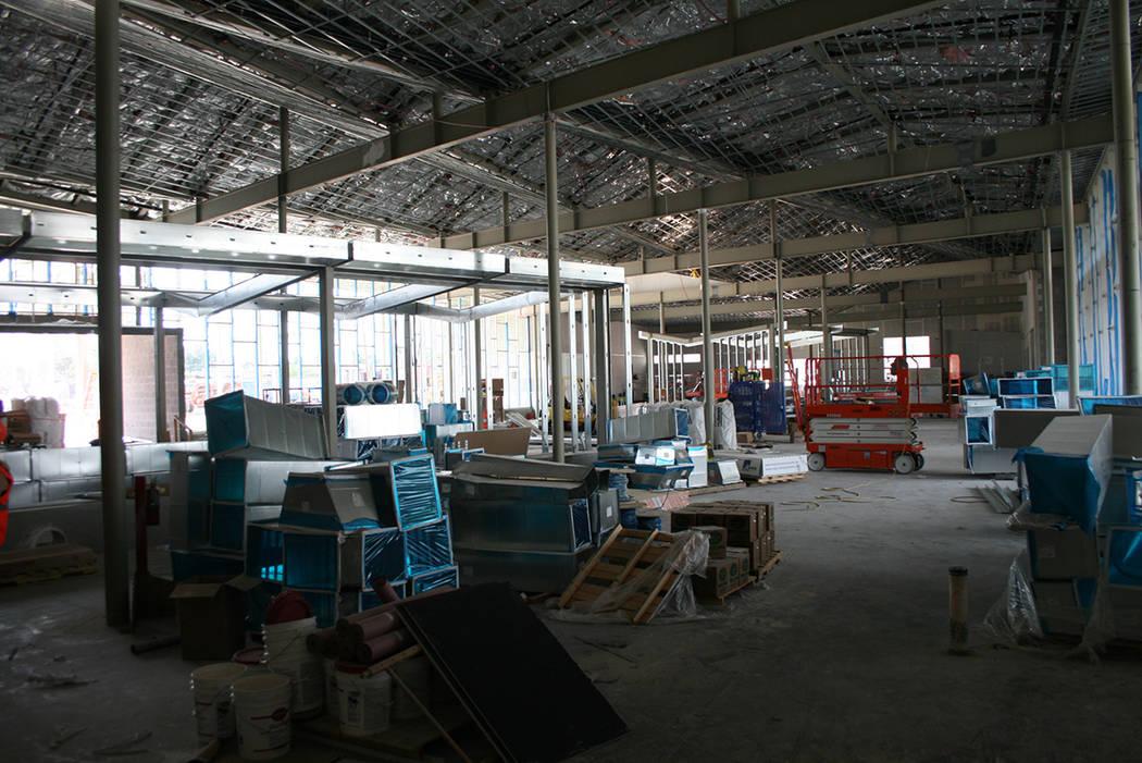 Aspecto del interior de East Las Vegas Library, en construcción, el 1 de octubre del 2018. Foto Valdemar González / El Tiempo - Contribuidor.