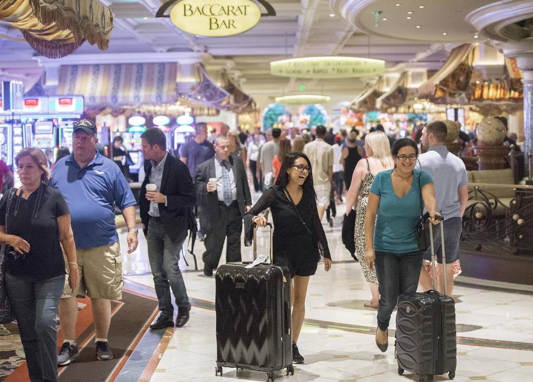 Las salas del Bellagio están llenas el martes 2 de octubre de 2018, en Las Vegas. Benjamin Hager Las Vegas Review-Journal @benjaminhphoto