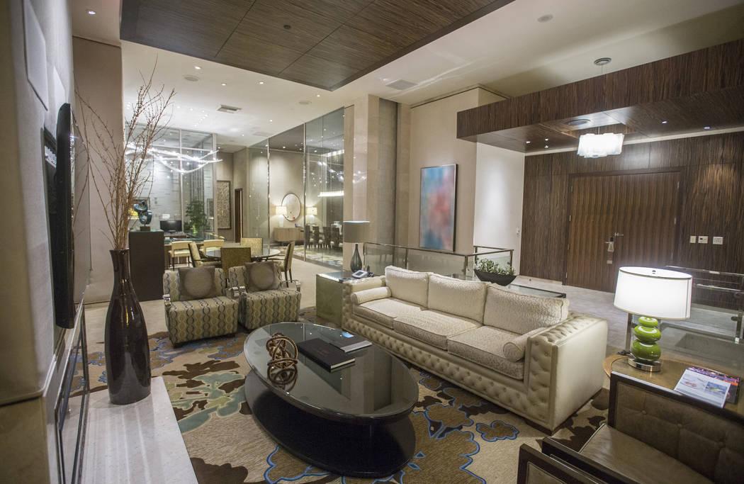 Gran suite de dos dormitorios el martes 2 de octubre de 2018, en Bellagio, en Las Vegas. Benjamin Hager Las Vegas Review-Journal @benjaminhphoto