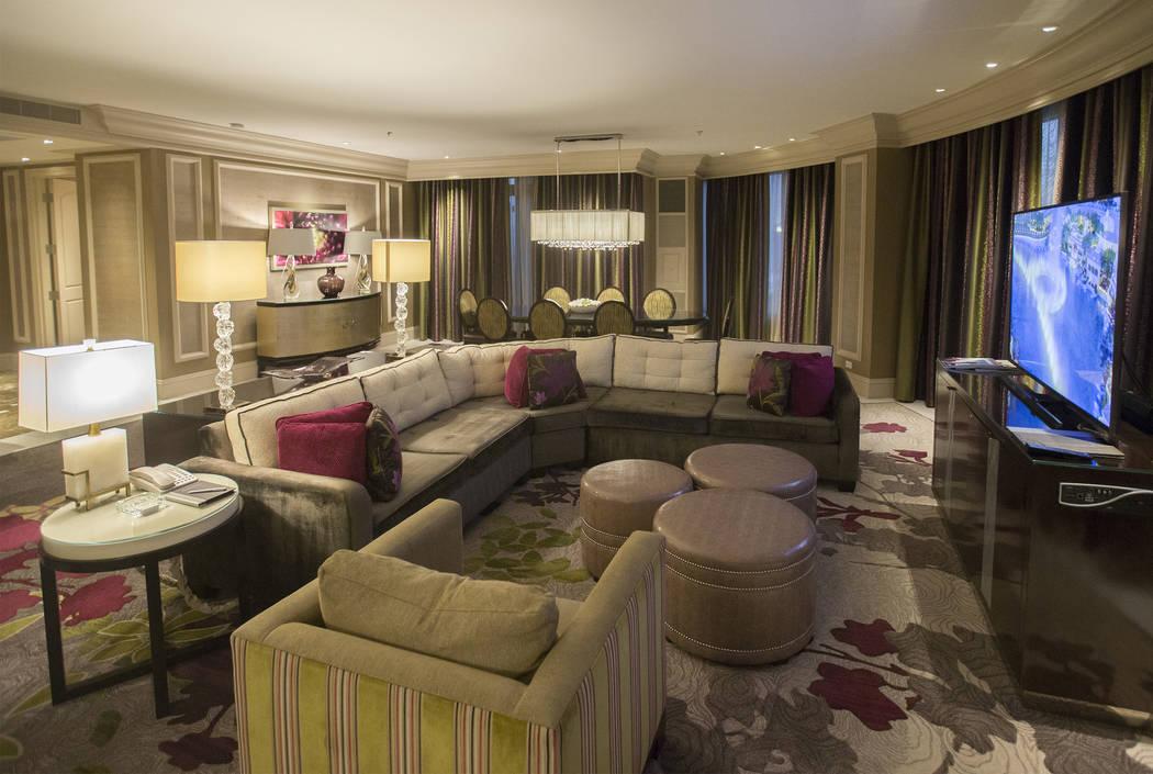 Suite de salón el martes 2 de octubre de 2018, en Bellagio, en Las Vegas. Benjamin Hager Las Vegas Review-Journal @benjaminhphoto