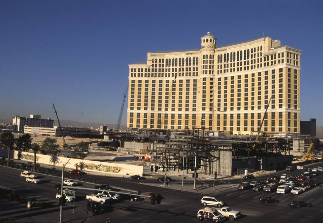 El exterior del Bellagio en agosto de 1997. (Las Vegas Review-Journal)