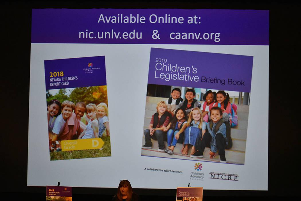 El Libro de Información Legislativa sobre Niños 2019 (Children's Legislative) está disponible gratuitamente en www.caanv.org. Para leer el Informe Escolar de Nevada 2018 (NV Children's Repo ...