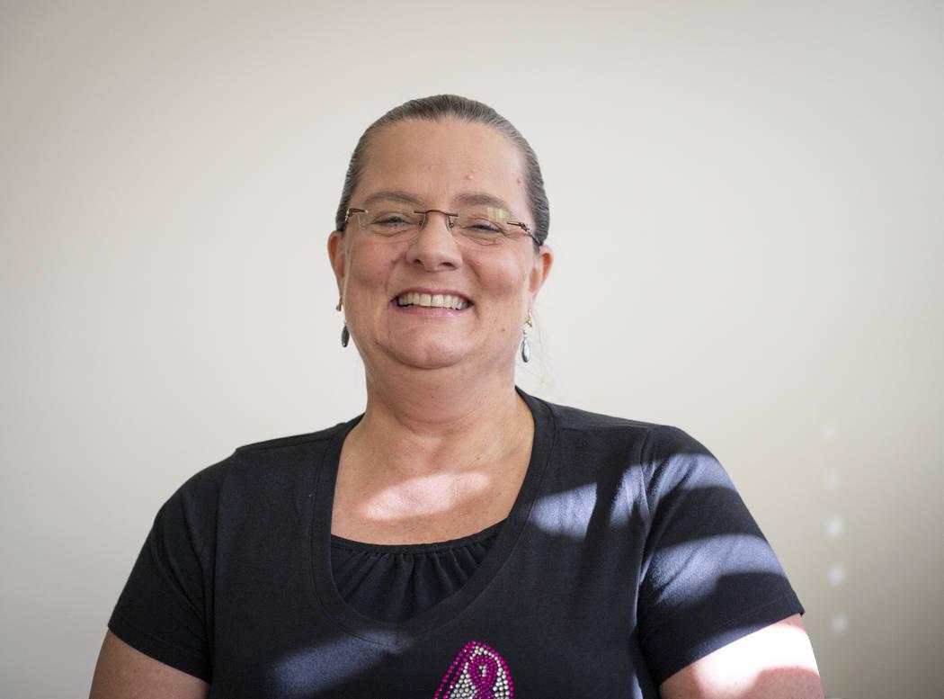 Kelly Trolia fue diagnosticada con cáncer de mama metastásico en etapa 4 en junio de 2017. Caroline Brehman / Las Vegas Review-Journal @carolinebrehman