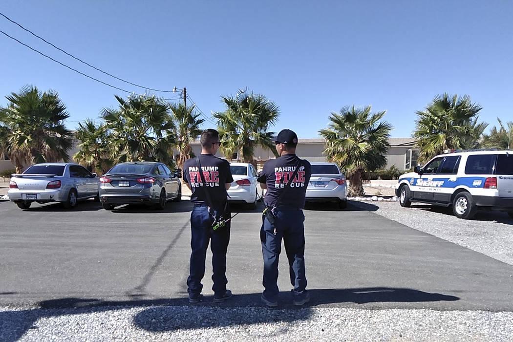 La escena en el burdel Love Ranch en Crystal, Nevada, donde murió su dueño Dennis Hof, el martes 16 de octubre de 2018. (Selwyn Harris / Pahrump Valley Times)