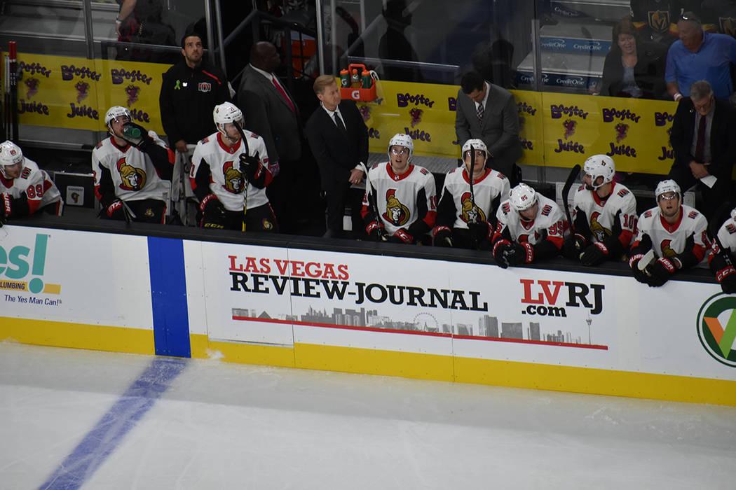 Ottawa Senators se fue de Las Vegas con una derrota ante Golden Knights. Domingo 28 de octubre de 2018 en T-Mobile Arena. Foto Anthony Avellaneda / El Tiempo
