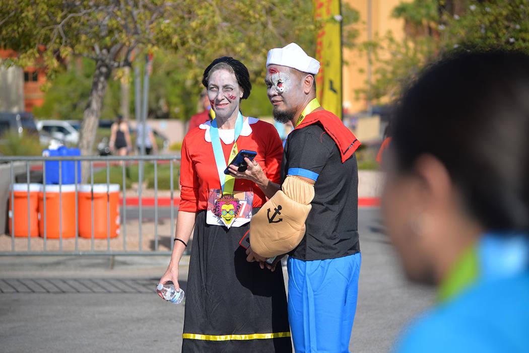 Algunos corredores participaron disfrazados en The Halloween Half. Sábado 27 de octubre de 2018 en Henderson. Foto Frank Alejandre / El Tiempo.